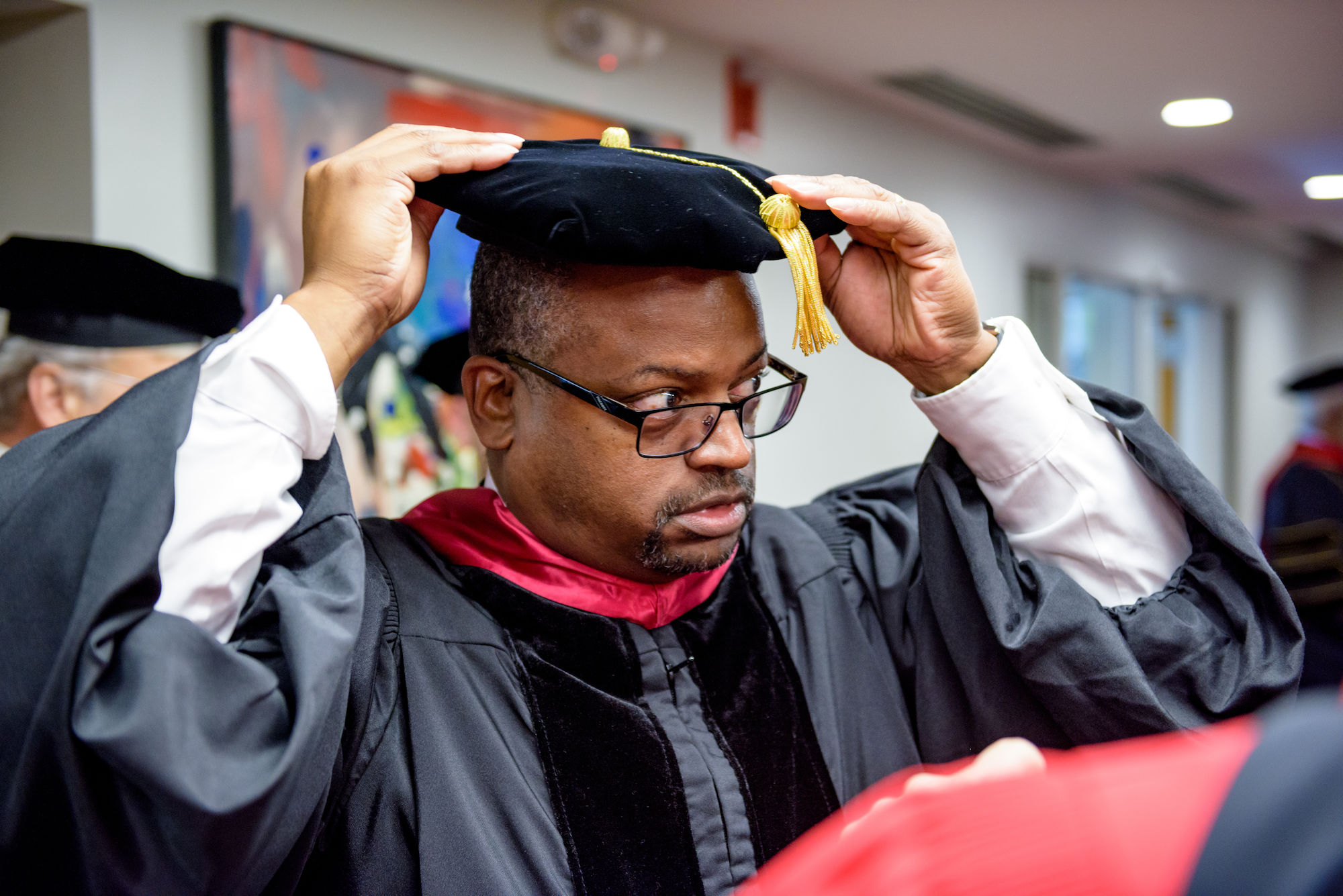 RHIT_Commencement_Platform_Party_Robing-21632.jpg