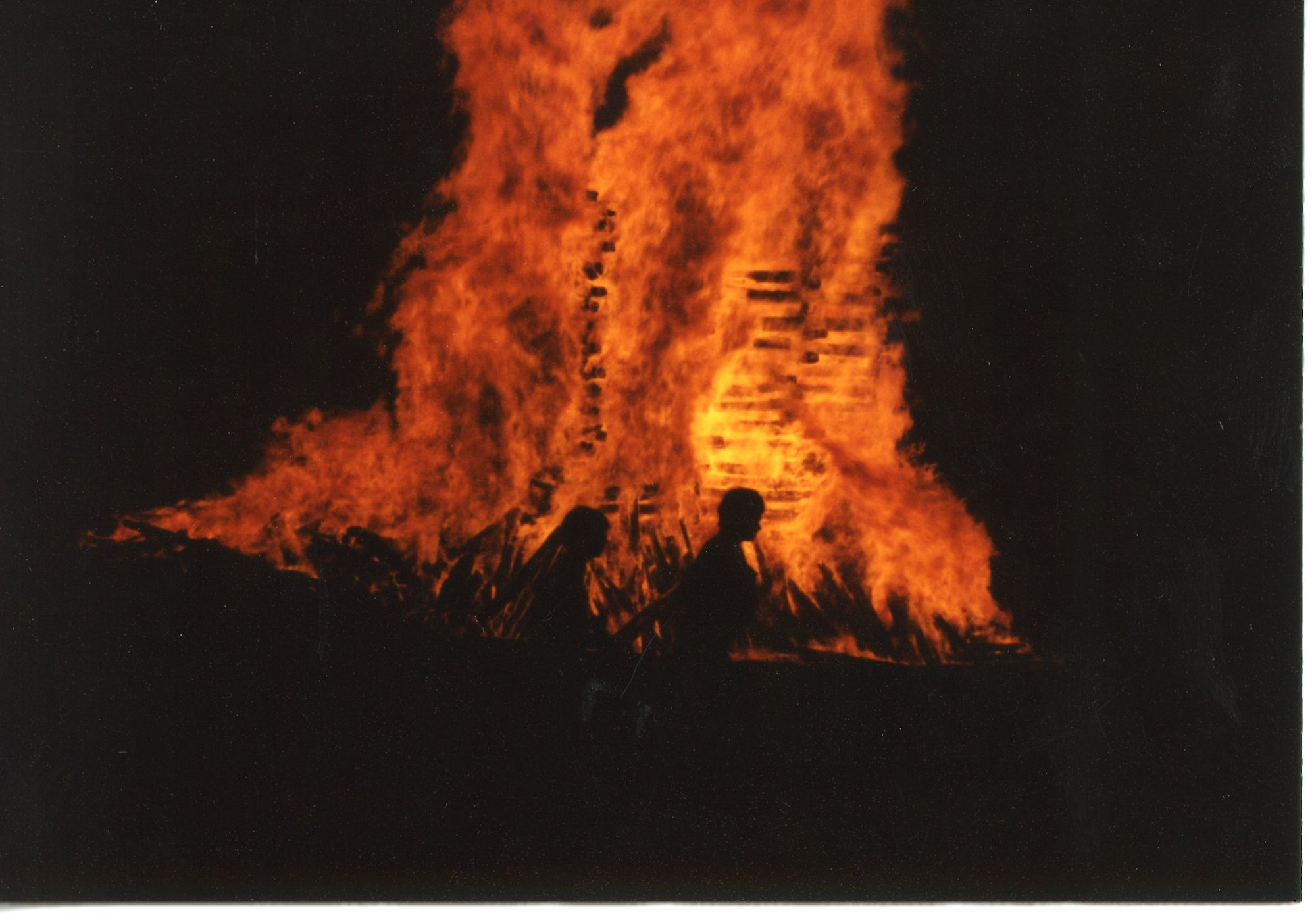 Historical Photos of the Homecoming Bonfires